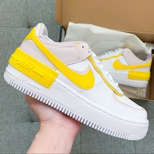 🌷🌻 Nike Air Force 1 pink white shoes sneak…
